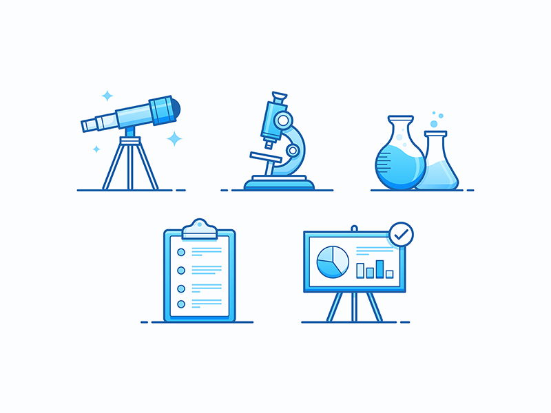 Research icons by Josh Warren