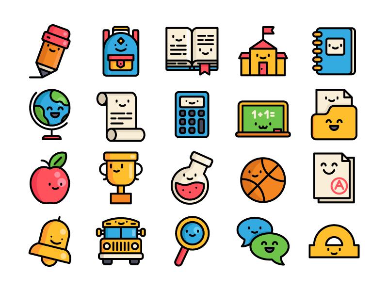 school-icons-by-sergey-ershov