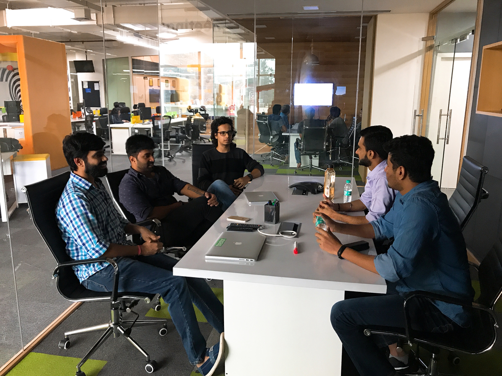 Iconscout Team interacting with Razorpay