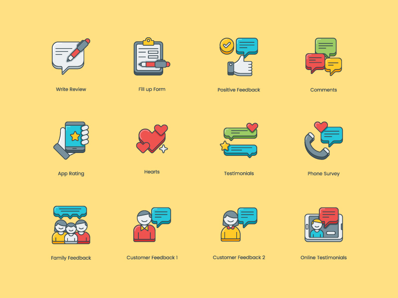 customer-survey-feedback-icon-set-by-steve-gerald