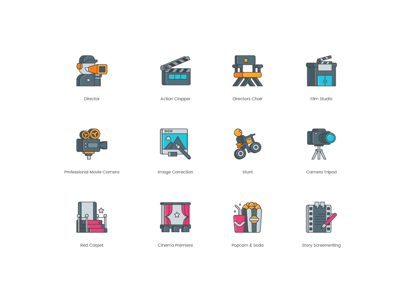 Video production icons by Steve Gerald