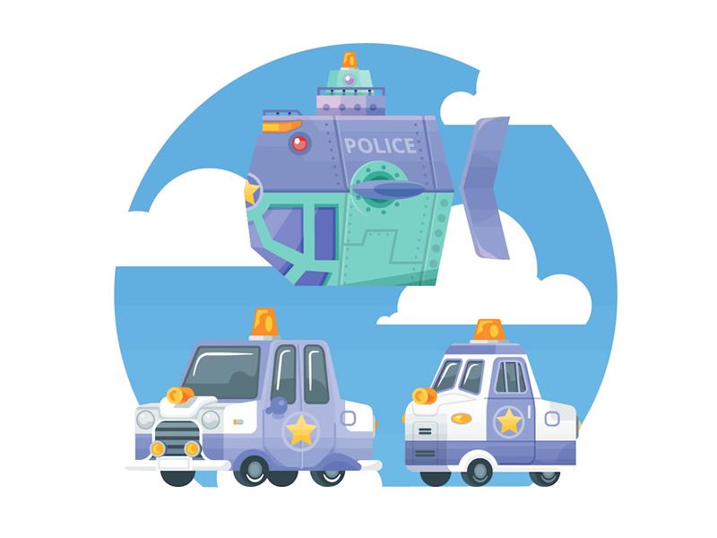 Police Vehicles by Ann-Sophie De Steur
