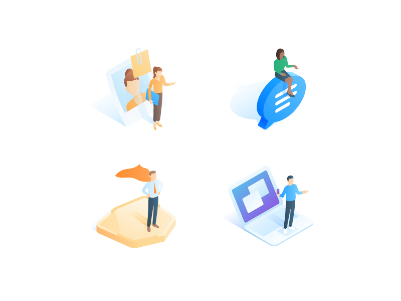 people-and-jobs-isometric-icons-by-gustavo-zambelli