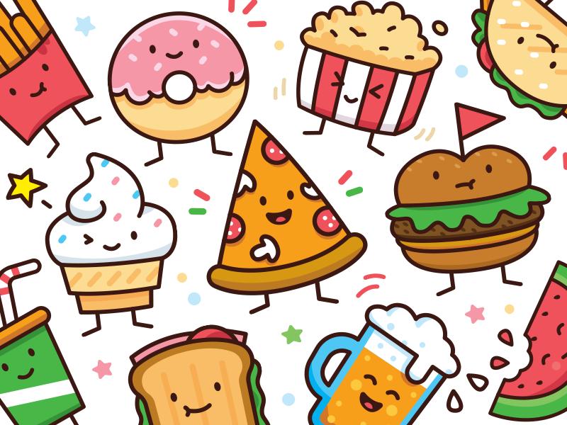 Food Doodle Toolkit by Manu