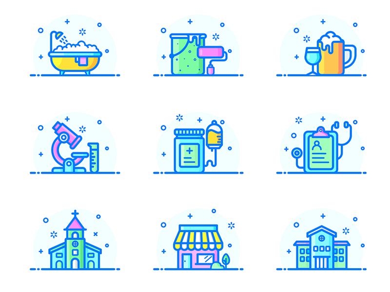 Exercise Icons by Nina