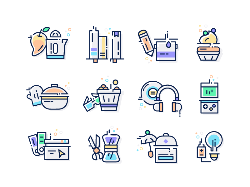 Hobbies and Interest icons by Mehvish