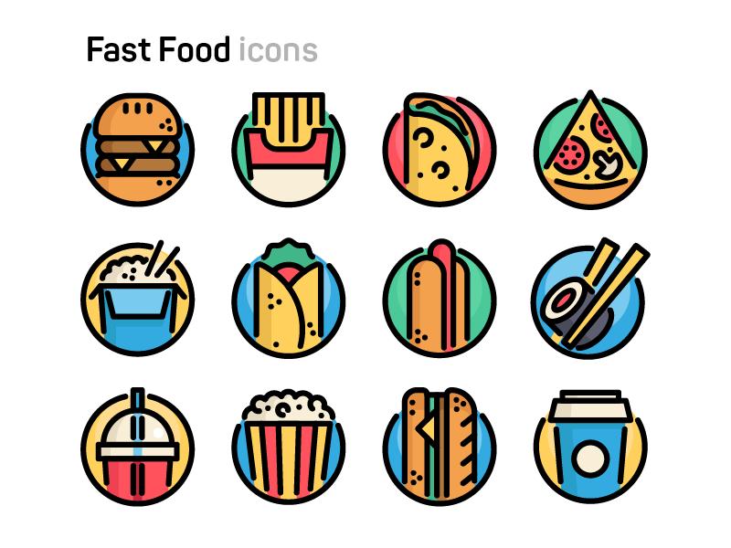 fast-food-icons-by-sergey-ershov