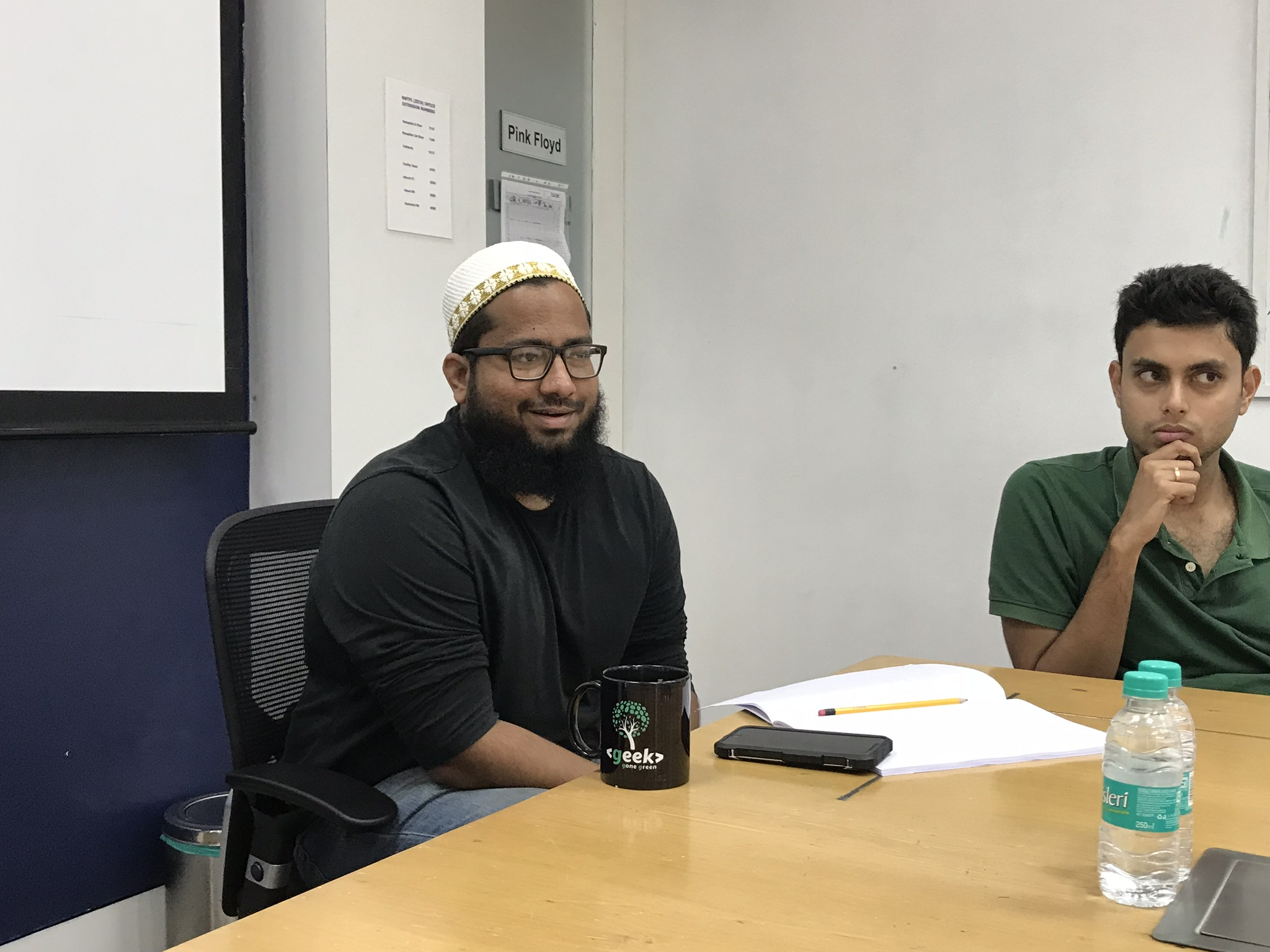 Mustafa (Left) and Kshitij (Right) explaining Zeta's design process