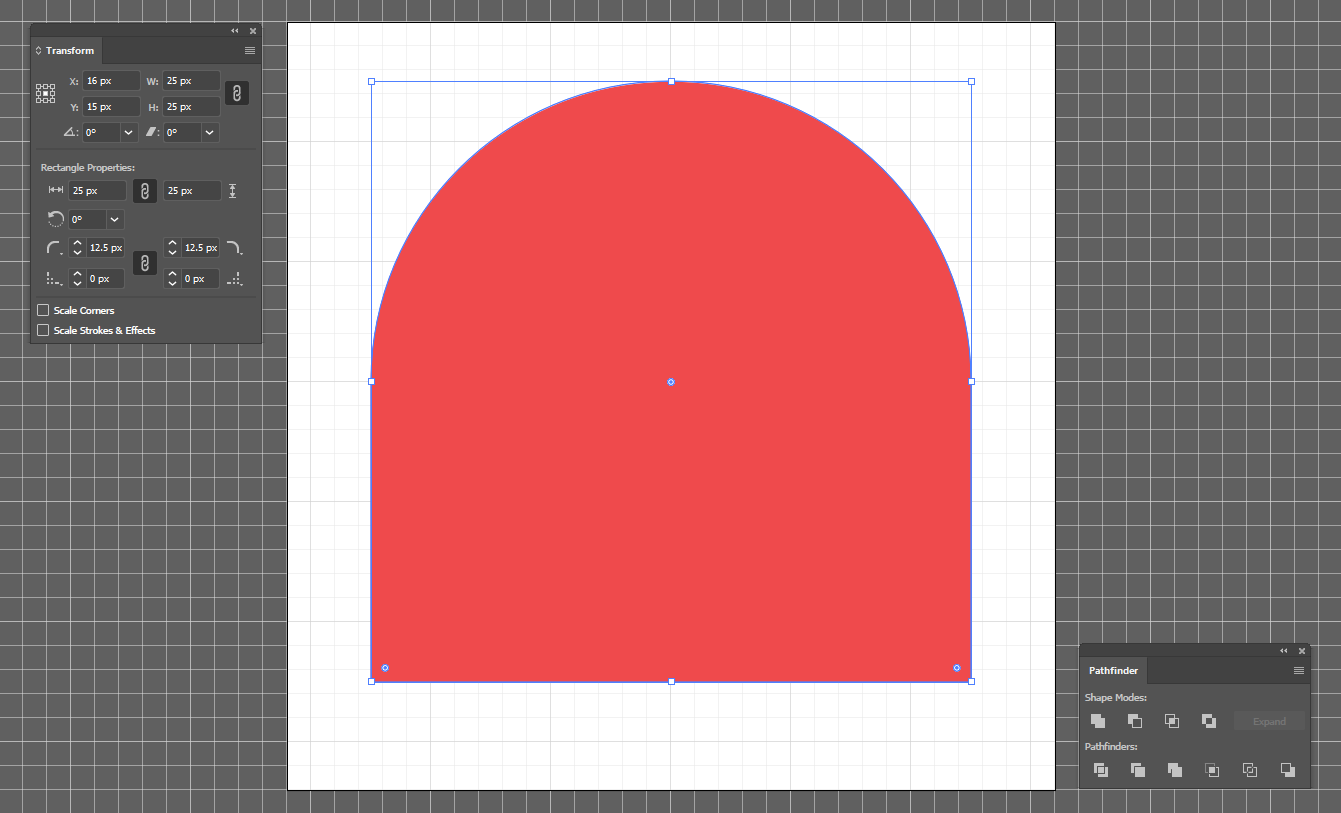 Corner Radius of Square