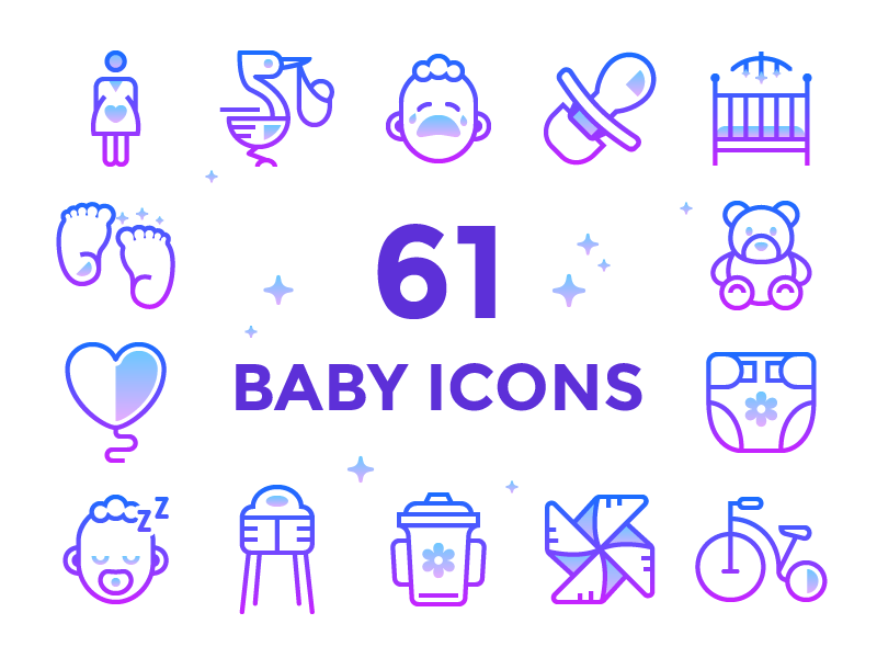 Baby Icons by Anna Golde for Icons8