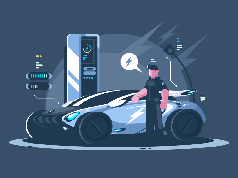 Electric Car by Anton Fristler for Kit8