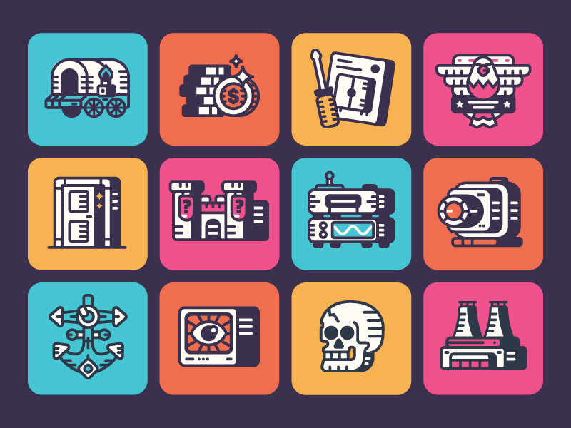 retro-theme-icons-by-jed-whippey