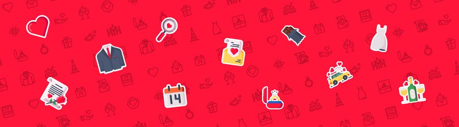 21 Free and Premium Valentine's day Icon packs - 2018