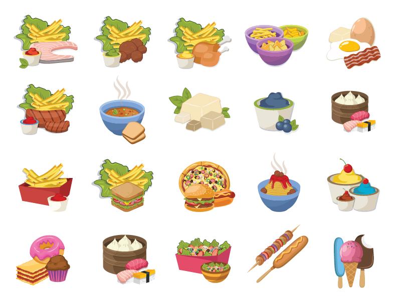 Food icons by Kubanek Design