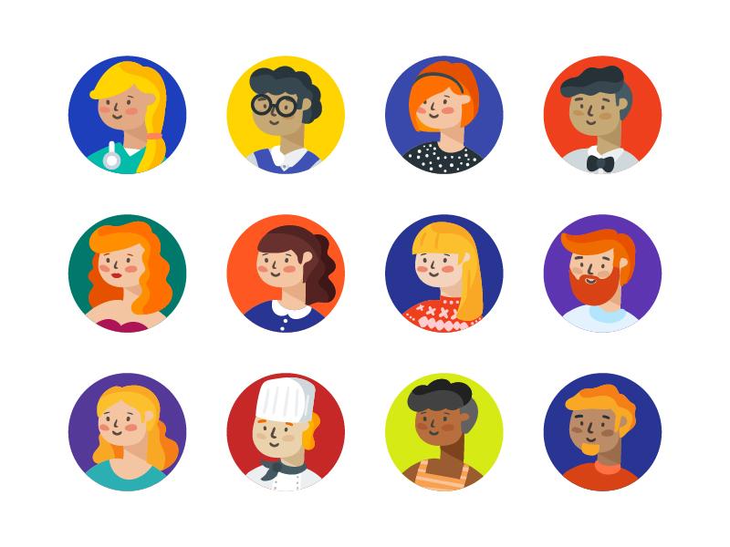 Avatars icons by Sooodesign