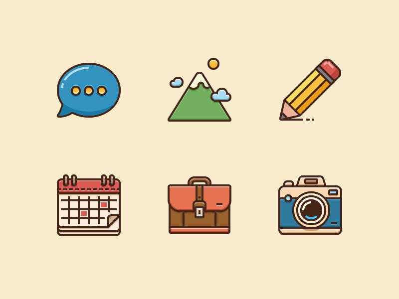 Contour Icons by Tanya Buhinskaya