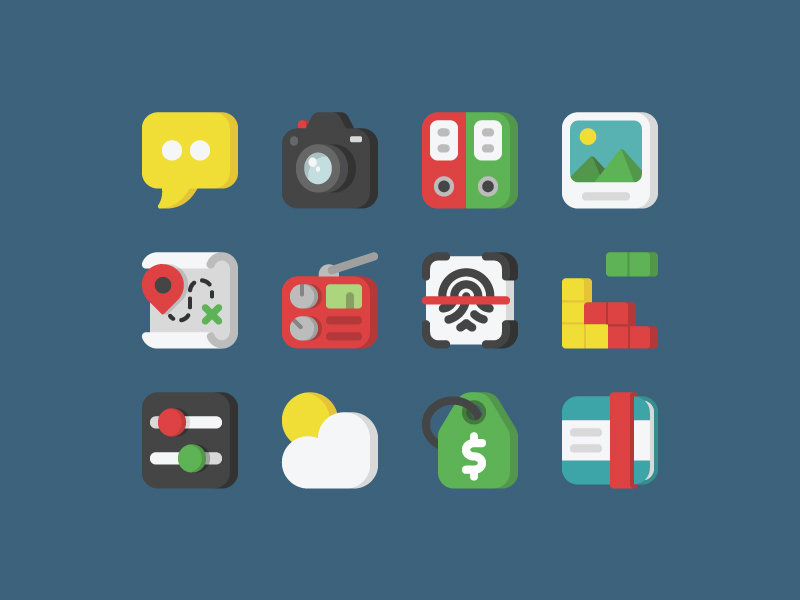 Mobile App icons by Alice Rizzo