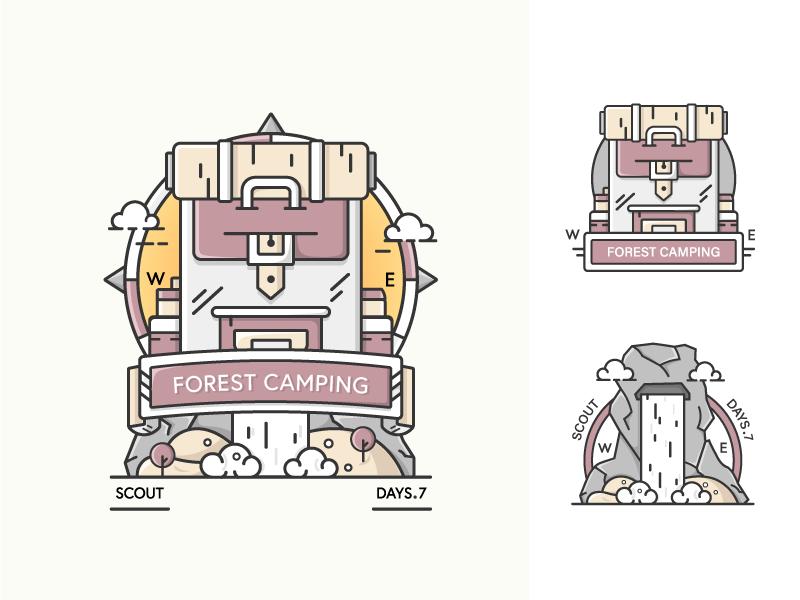 Camping badge by Mehvish
