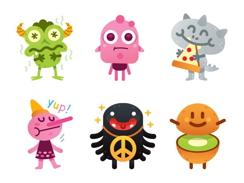 Monsters Emoji by Manu
