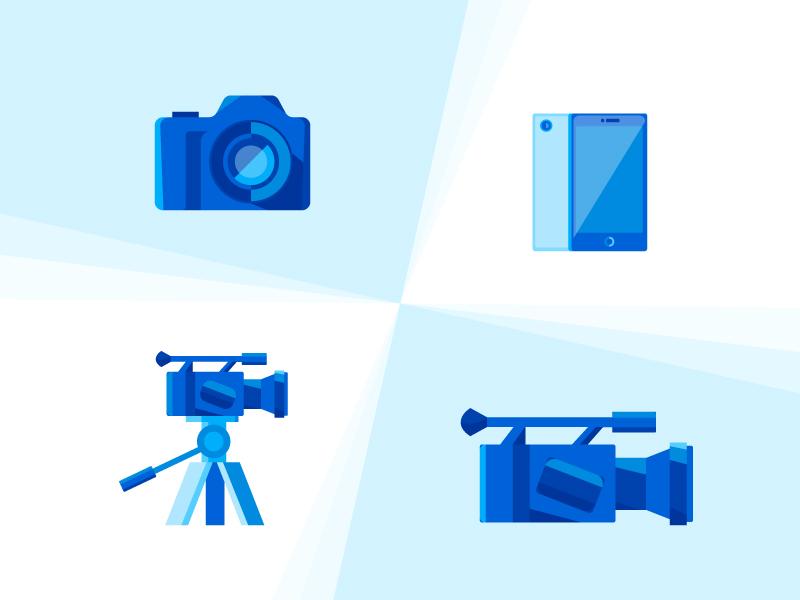 Video icons by Olena Golubiatnikova