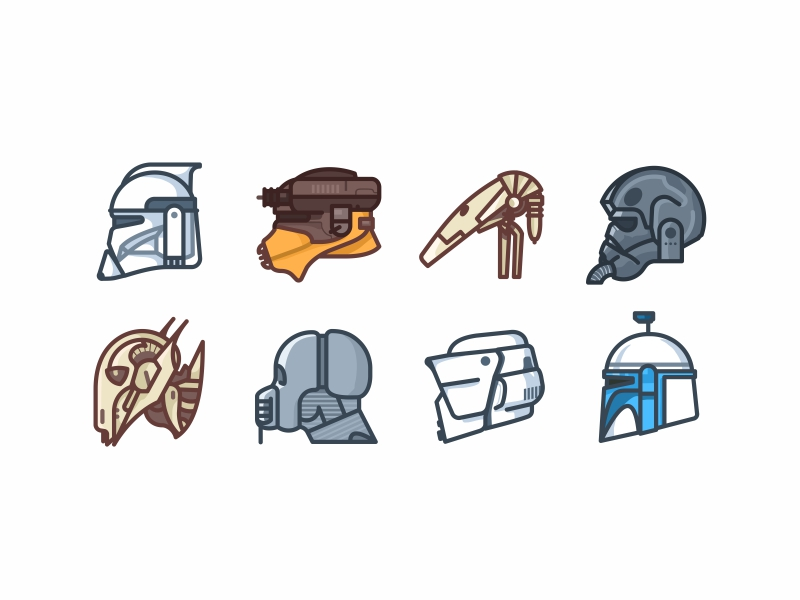 Star Wars Helmets by Aleksandar Savic