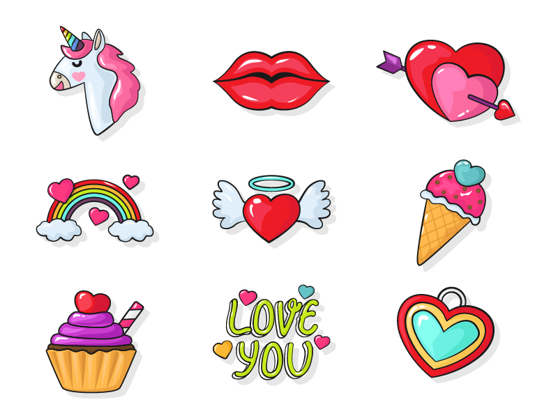 Valentine icons by Ferry Eka