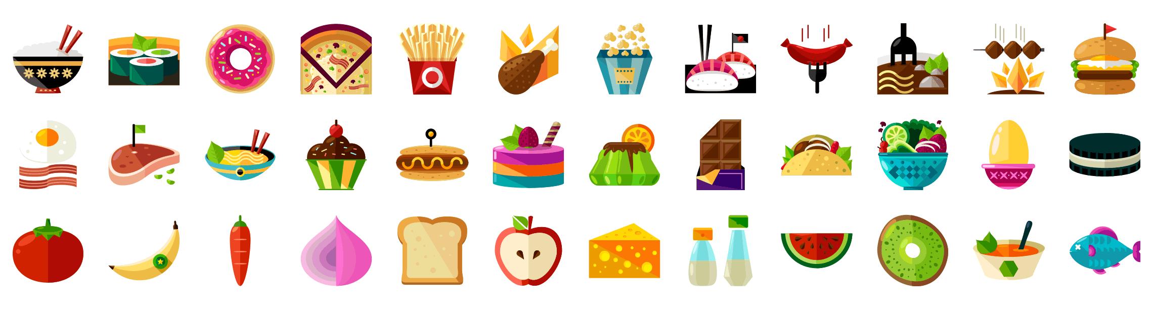 food-flat-icons