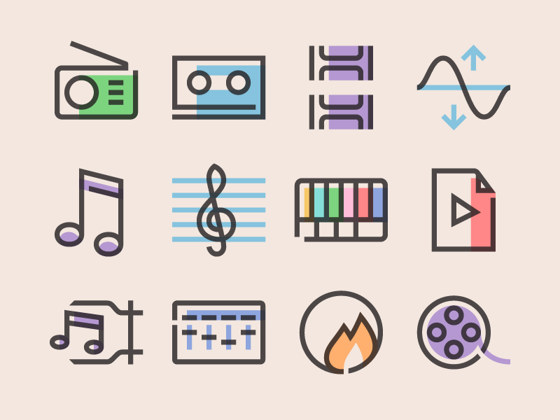 Multimedia icons by IconShock
