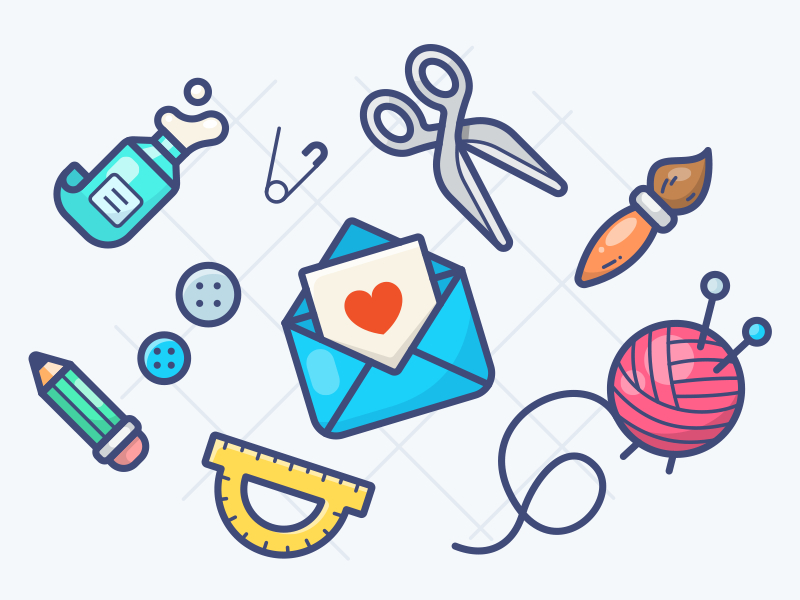 Handcrafted icons by Alex Kunchevsky