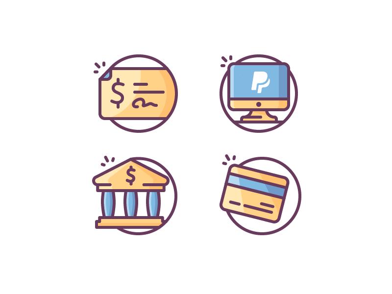 Payment icons by Justas Galaburda