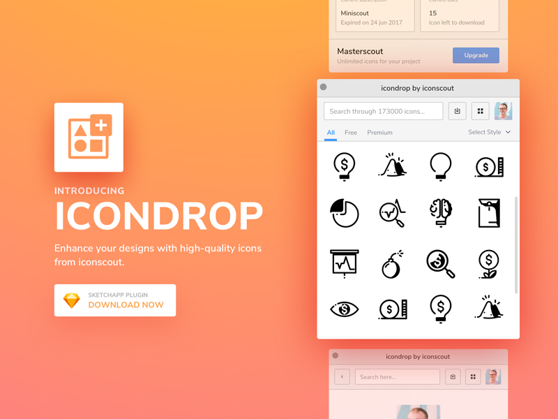 Icondrop for Sketch