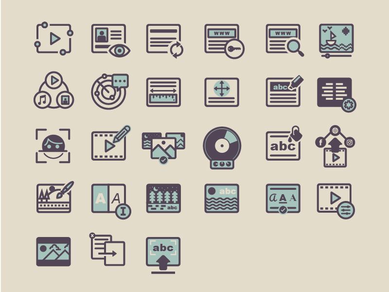 Multimedia icons by Nelson Fraga