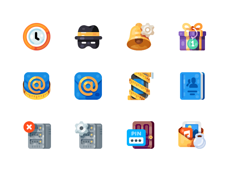Color icons by Evgeniy Dolgov