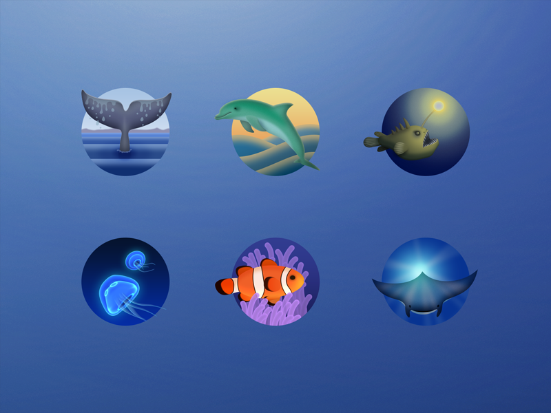 Ocean icons by Liu He