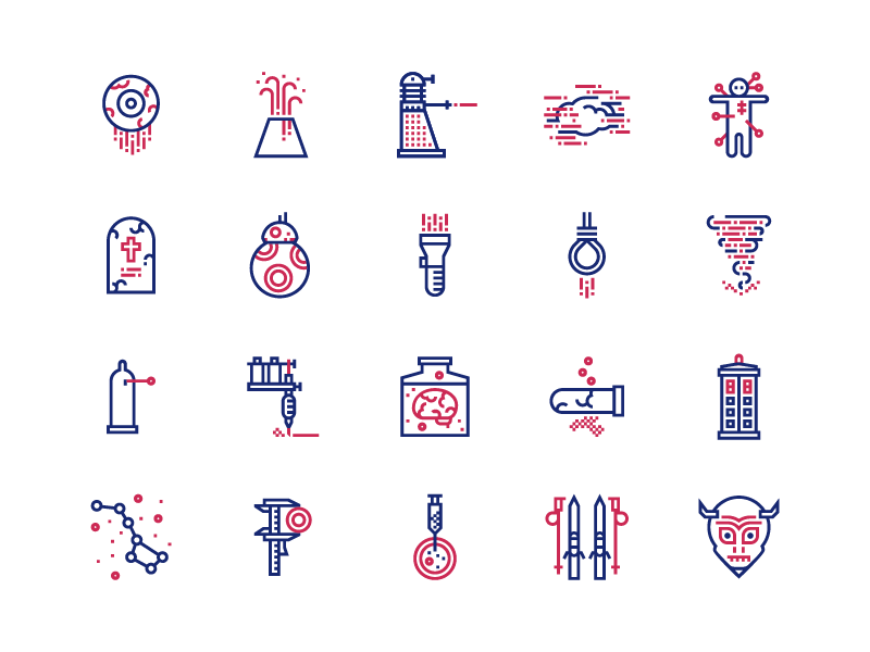 Science and Fiction icons by Kamila Pi