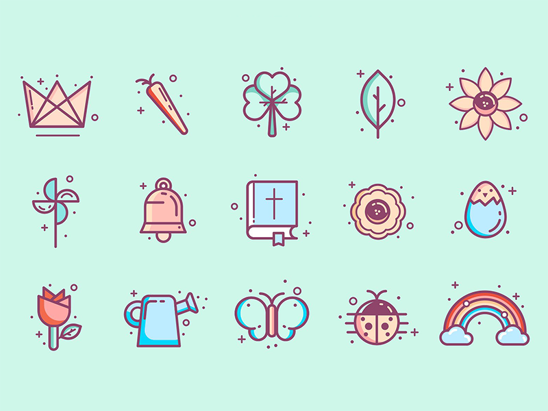Easter & Spring icons by Houston Hanna