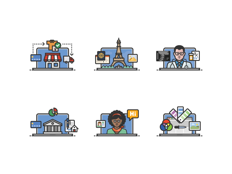 Online Activities icons by Scott Lewis