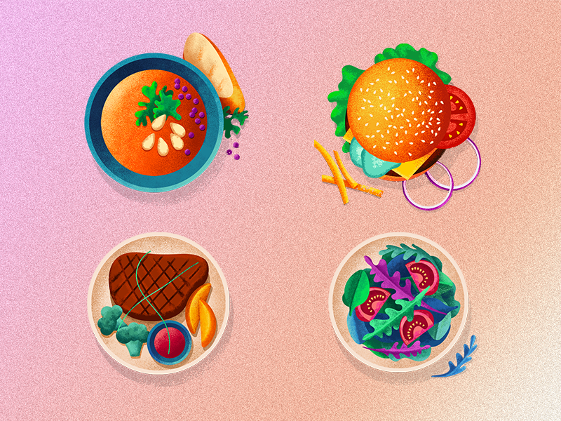 Food icons by Viktoria Martyniuk