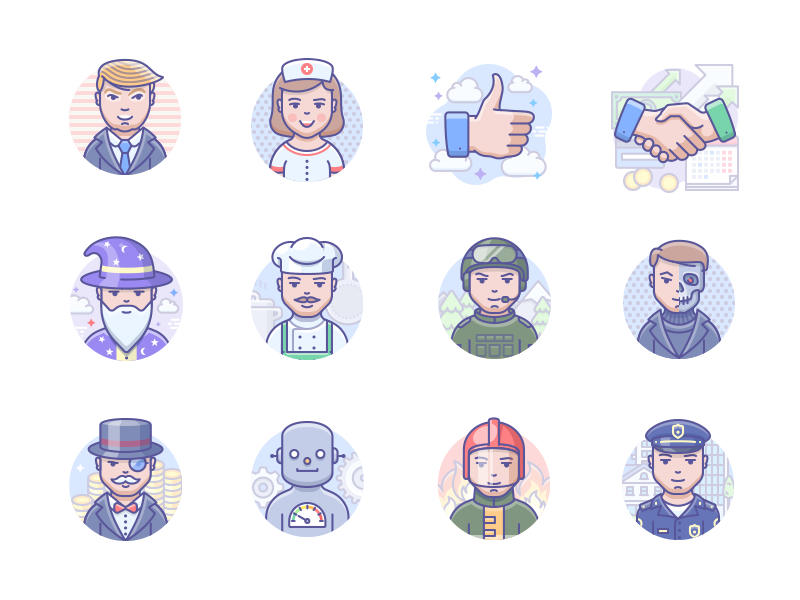 Scenarium people icons by Icojam