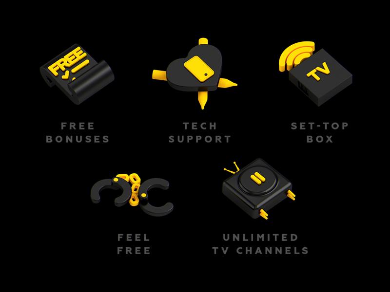 internet service provider icons by Stas Kokin