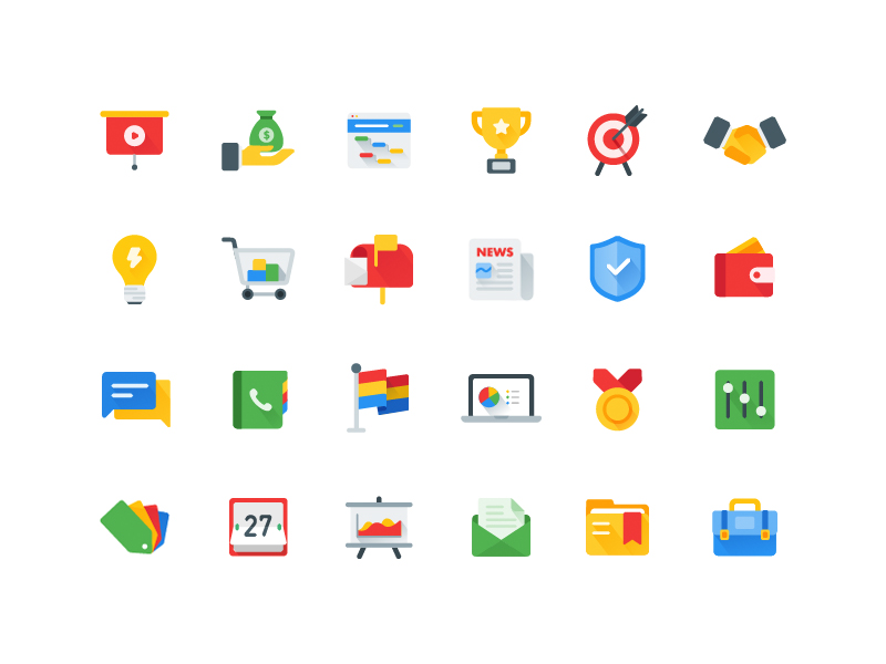 Business icons by Nicholas
