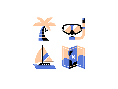 Sea icons by Jordon Cheung
