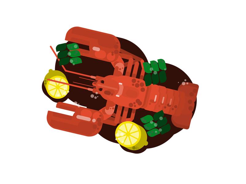 Lobster illustration by Gytis Jonaitis