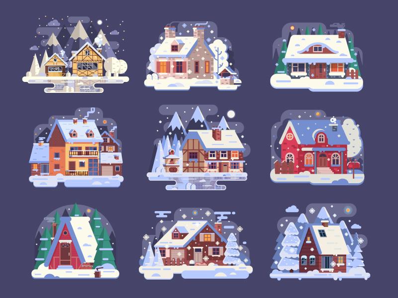 Winter homes by Aliaksei Kruhlenia