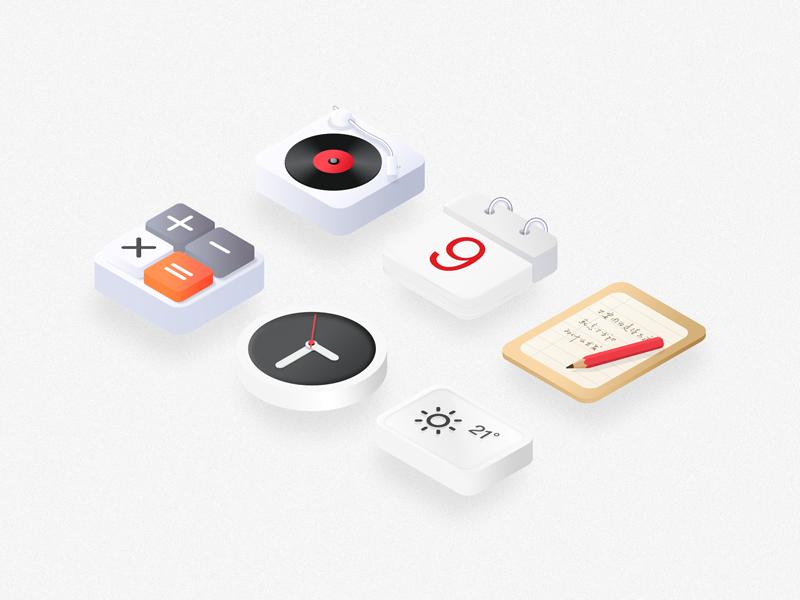 Isometric icons by ZeBang