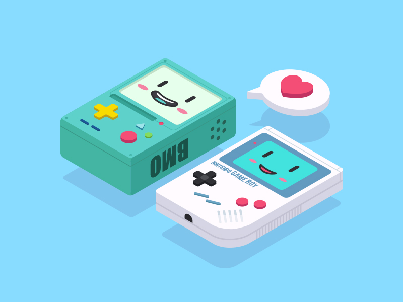 BMO And Game Boy by Clow Ben