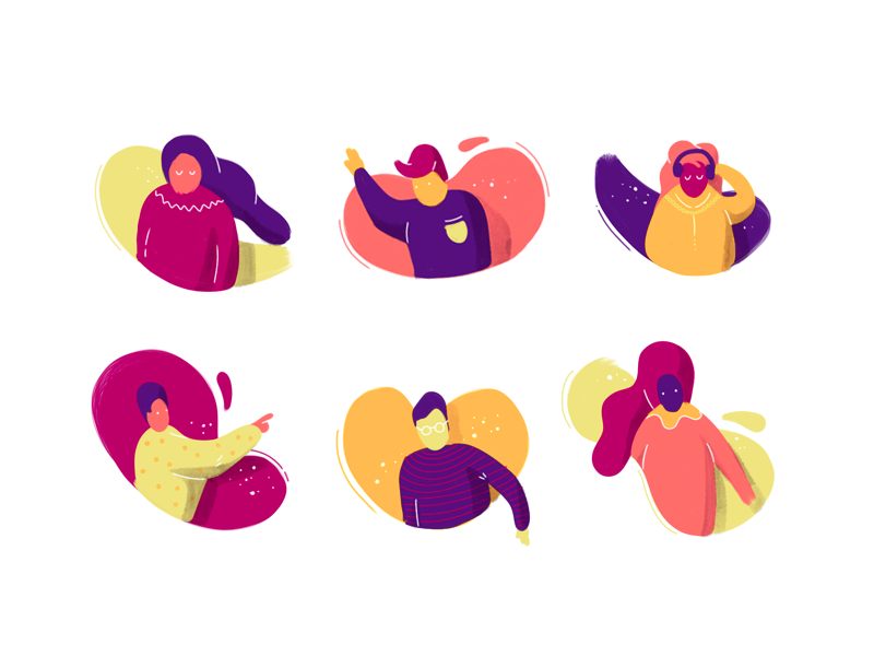 Characters icons by Gal Shir