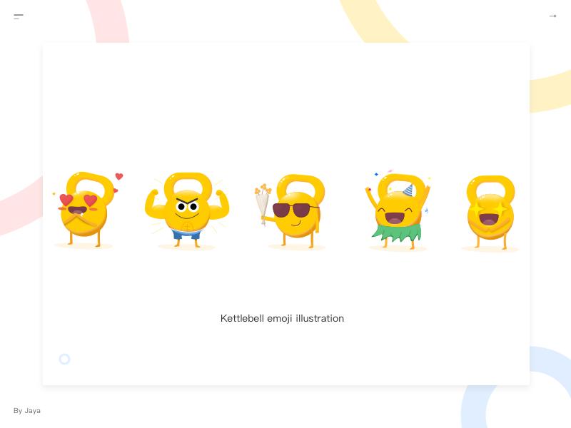 Kettlebell Emojis by Jaya