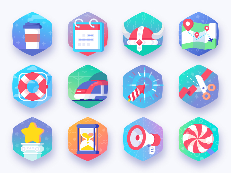 MedPeople Badges icons by Laura Reen