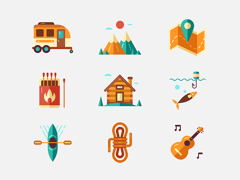 Outdoor and Recreation icons by Chanut is Industries